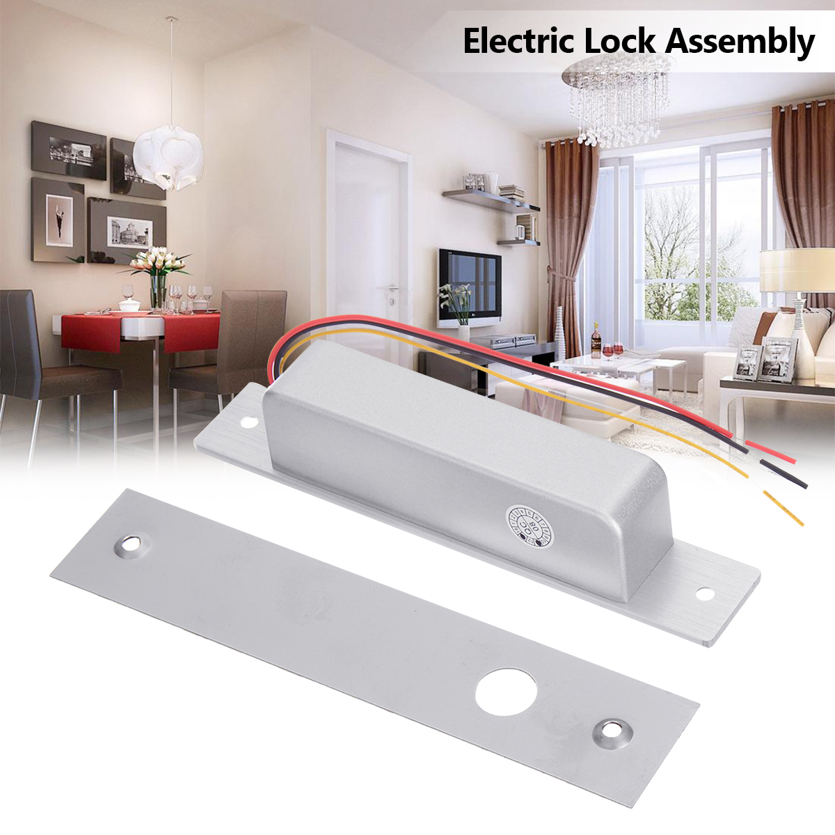 Silver Electric Strike Door Lock DC 12V for Access Control System Electromagnet Fail-Safe Electric Bolt Lock silver electric strike door lock dc 12v for access control system electromagnet fail safe electric bolt lock