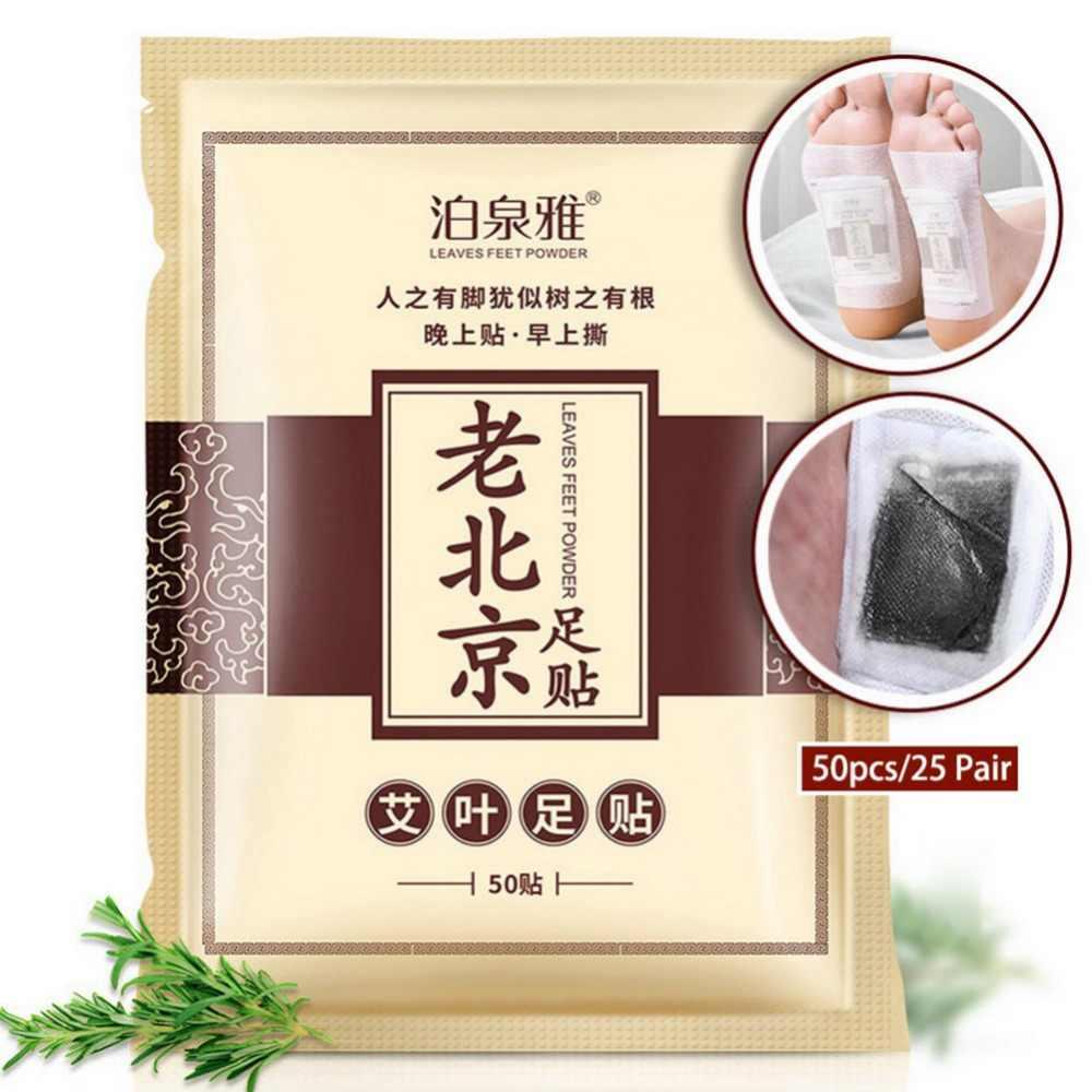 50 pz = 25 Pair Vecchia Pechino Rilievi Del Piede Del Detox Zona Del Piede Dimagrante Perdita di Peso di Salute Appiccicoso Detox Piedi Maschera la Cura della pelle TSML2