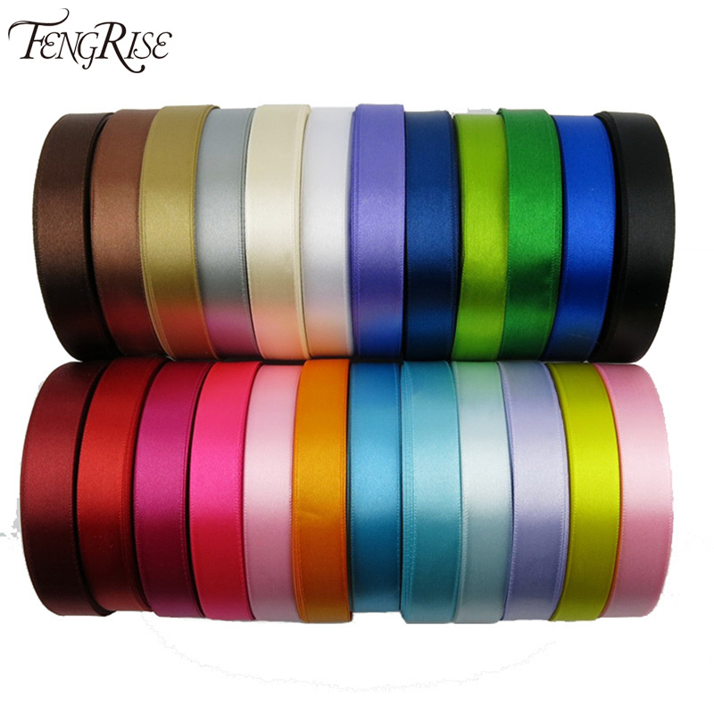 Silk satin ribbon 15mm 22 meters wedding party festive event decoration crafts gifts wrapping apparel sewing