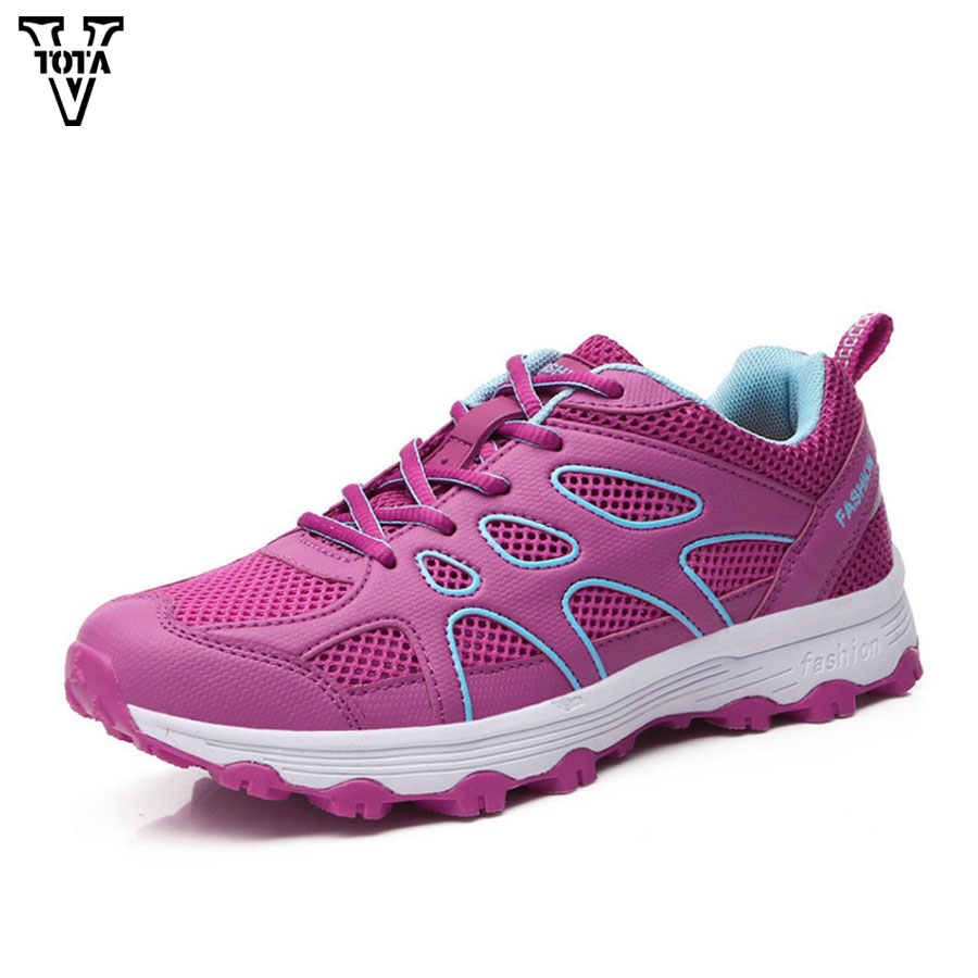 VTOTA Brand Shoes Woman Casual Air Mesh Sneakers Breathable Women Shoes Flat Climbing Zapatillas Mujer Lace-up Fabric Shoes QJ vtota shoes woman flat summer shoes fashion genuine leather single shoes 2017 new zapatillas mujer casual flats women shoes b44