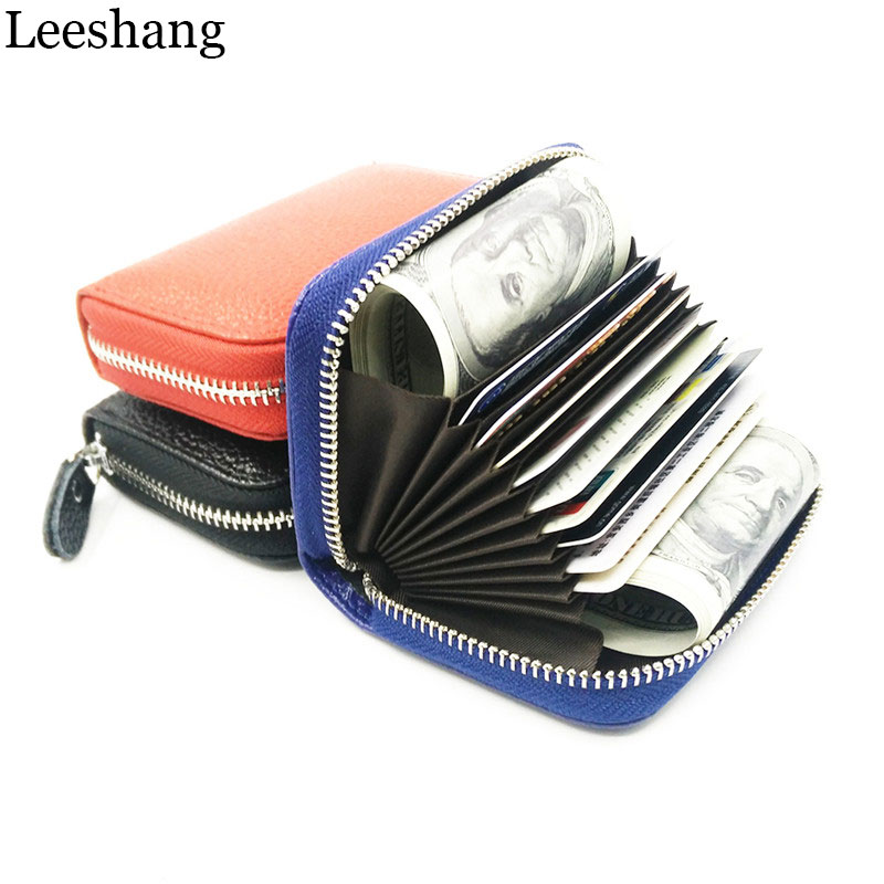 Leeshang Ženske Novčanici Prava Koža Držač kreditnih kartica - Novčanici