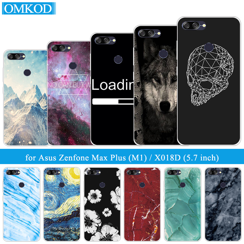 For Asus ZenFone Max Plus M1 ZB570TL Marble Cases Siliocne 5.7 inch For Zenfone Max Plus M1 X018DC ZB570TL Soft TPU Shells
