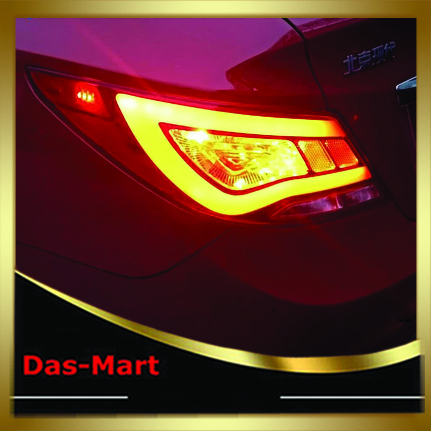 Car Accessories For Hyundai Accent Tail Lamp Rear Light 2010-2013 Red Clear Red Smoke hyundai accent hatchback ii бу москва