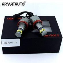 2 шт./1 комплект в партии, 2x120 Вт 240 E92 H8 светодиодный Ангельские глазки светодиодный габаритные огни canbus для BMW X5 E70 X6 E71 E90 E91 E92 M3 E89 E82 E87 фар