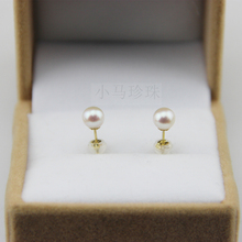 Eternal wedding Women Gift word 925 Sterling silver real Shipping natural pearl font b earrings b
