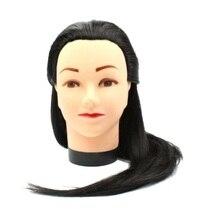 18inch Mannequin Doll Head Hairdressing StylingTraining Black Hair Female for Salon Practice