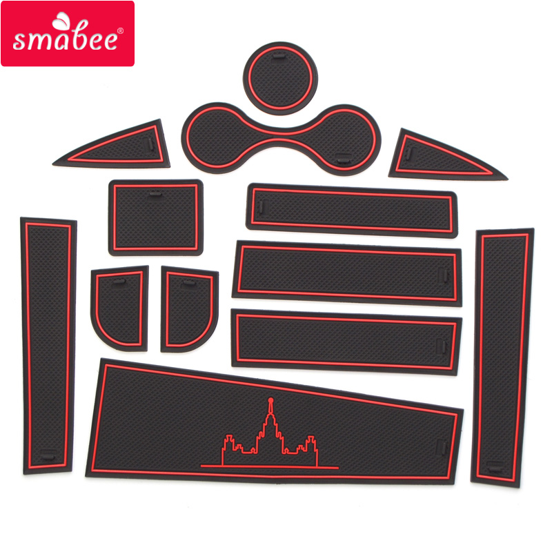 smabee Gate slot pad Interior Door Pad Cup For lada LARGUS Non slip mats red blue white mats