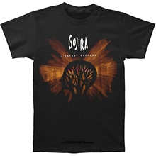funny t shirts Gojira Mens LEnfant Sauvage T-shirt Black Men cotton Short Sleeve T-Shirt