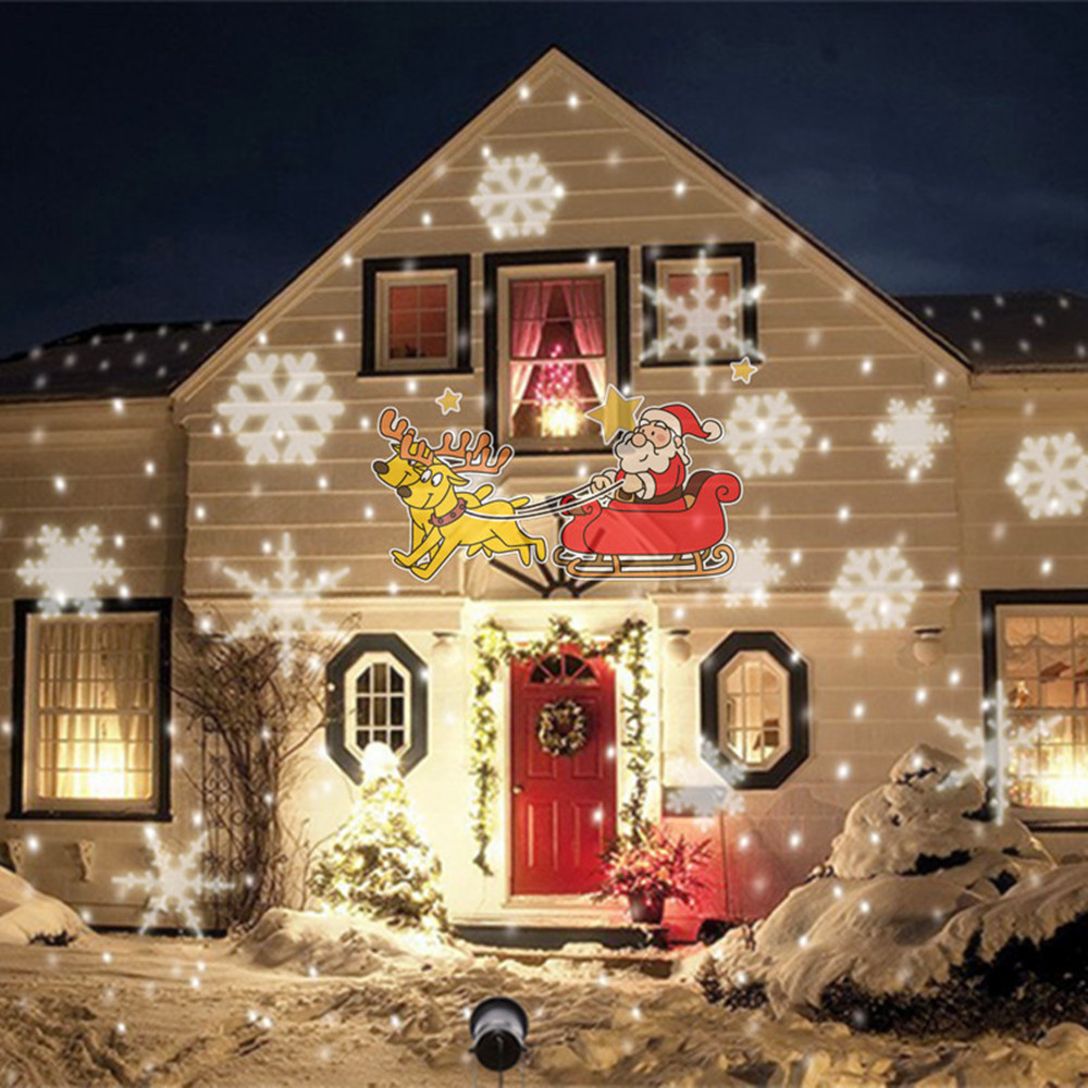 Vunji IP65 Animated Christmas Projector Lamps LED Halloween Lights For Indoor Outdoor Light Christmas Party Holiday Decoration