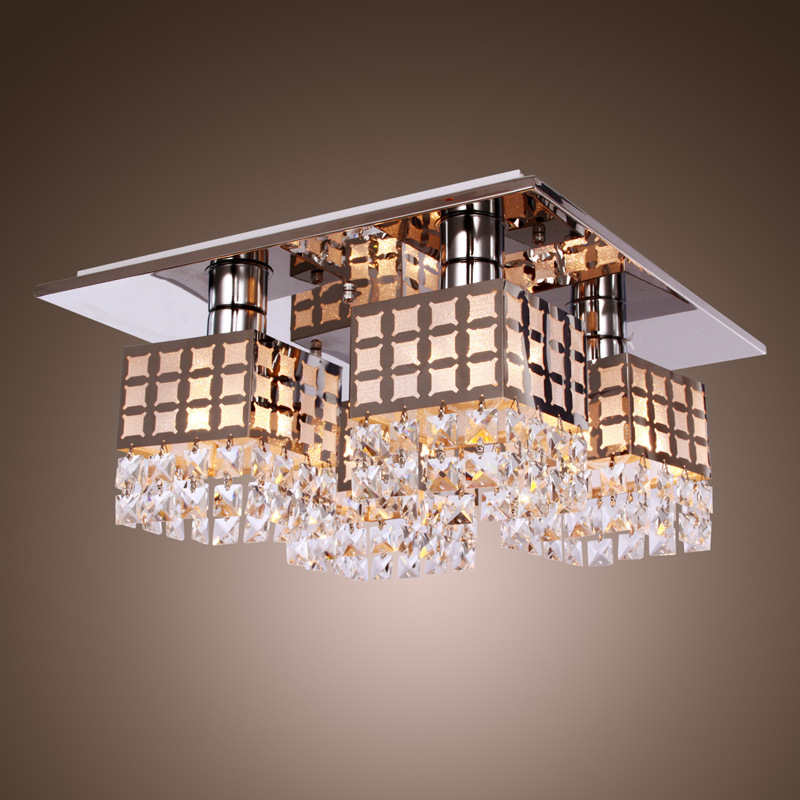 Modern Crystal LED Ceiling lamp Fixture For Indoor Lamp Surface Mounting Ceiling Lamp crystal celling light E27 bulb ZXD0010 free shipping wooden surface or sling mounting 100 240vac 4000k led panel light ceiling light wholesales