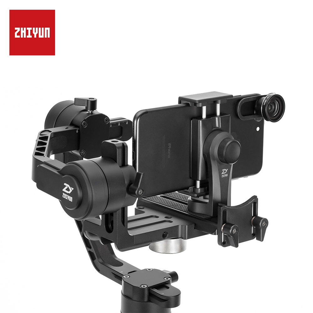 ZHIYUN Official Universal Gimbal Phone Golder Tripod Adapter Rotatable Cellphone Clamp for Crane /2/plus/M for Smartphones-in Gimbal Accessories from Consumer Electronics