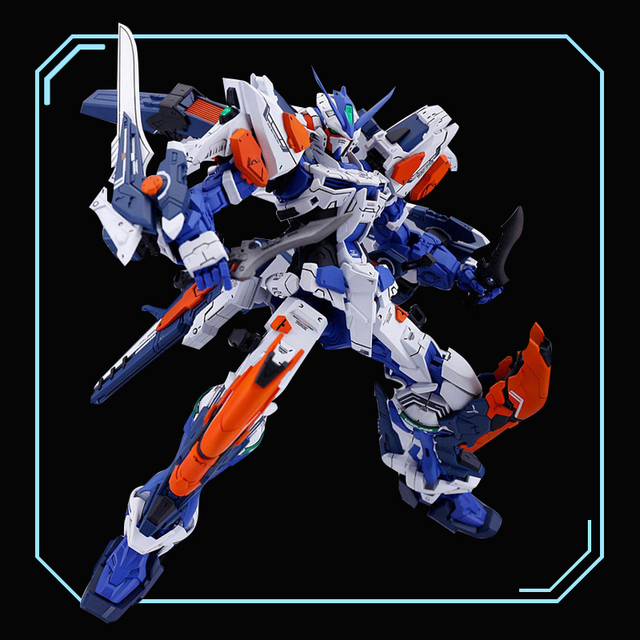 DRAGON_MOMOKOรุ่น1/100 MGสีฟ้าสับสน2ประเภทL Blue Heresyประเภท3สามารถเปลี่ยนGundam Action Figureตกแต่งของเล่นเด็ก