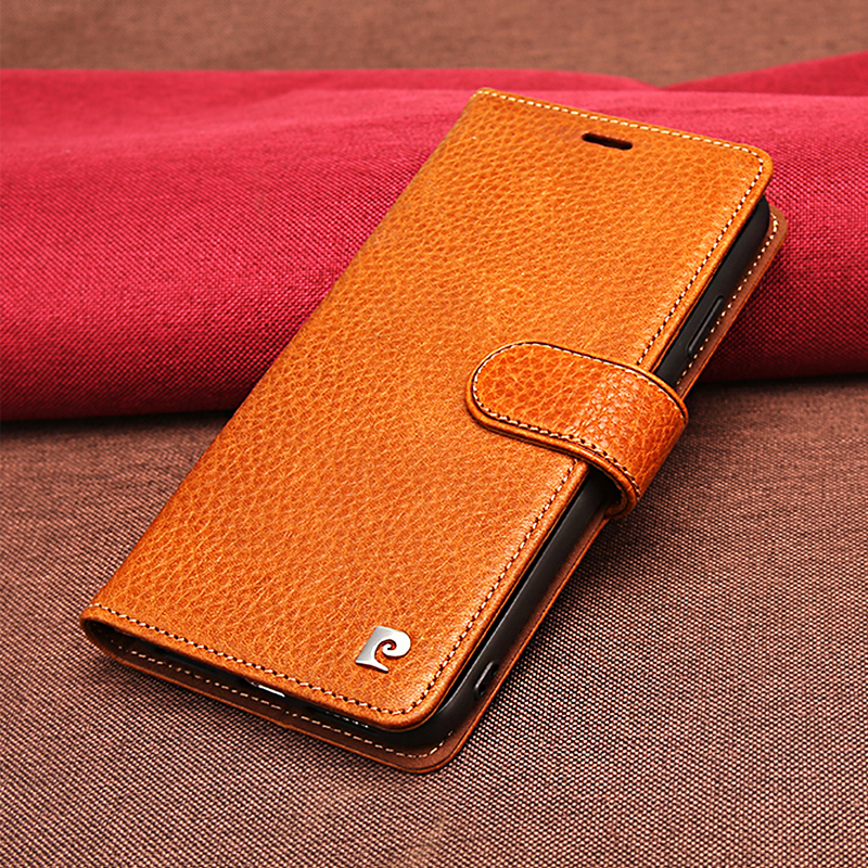 Original Pierre Cardin Flip Case For iPhone XS MAX Genuine Leather Wallet Case For iPhone XS