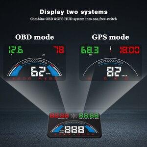 Image 3 - WiiYii pantalla frontal para coche OBD2 S7 HUD, velocímetro hud de temperatura GPS, herramienta electrónica de diagnóstico de datos, accesorio automático