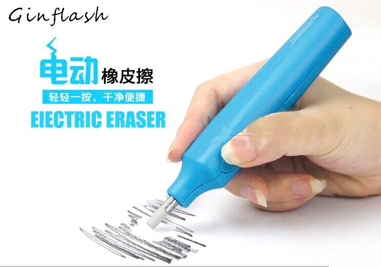 Electric Art Eraser With 10pcs Replacement Eraser Sketch Painting Eraser School Supplies Sketch Eraser Stationery ASS018