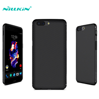 Nillkin OnePlus 5 Case Synthetic Rubber Frame Carbon Fiber Surface Back Cover Hybrid Cases For OnePlus