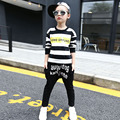 Girls Sports Suits Striped Letter T-Shirts & Harem Pants Cotton Casual Children Tracksuits Girls Sportswear 4 6 8 10 12 years