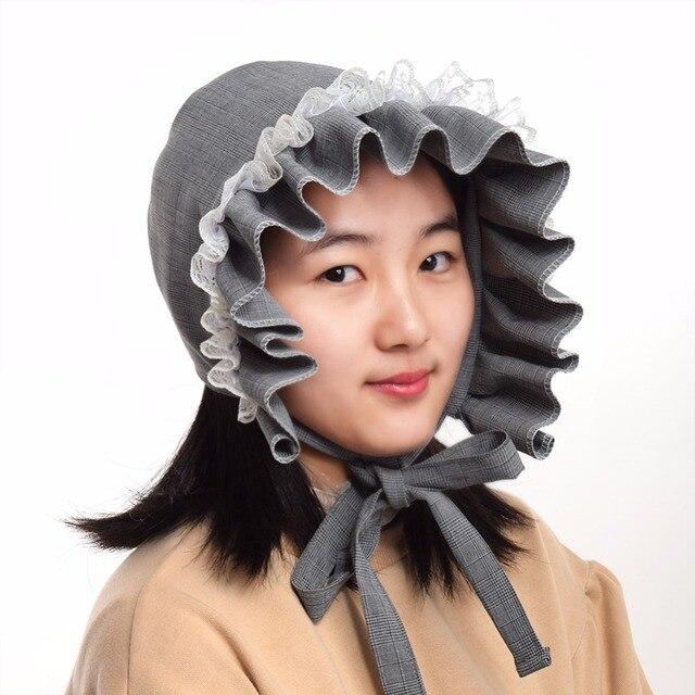 2072b73af29 Lolita Girls Bonnet Prairie Pioneer Colonial Costume Reversible Hat ...