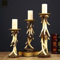 Европейский украшения дома свечи, подставка держатель для свадьбы основная часть канделябра ретро смолы стола подсвечник JKL094