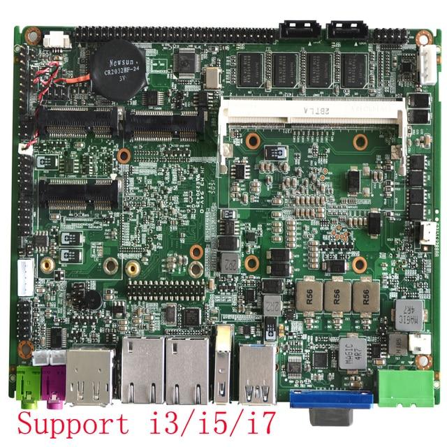 عالية الجودة إنتل كور i7 3537U المعالج 4 جيجابايت ذاكرة عشوائية اللوحة الصناعية سلسلة المدى لوحة تحكم رئيسية ITX مصغر