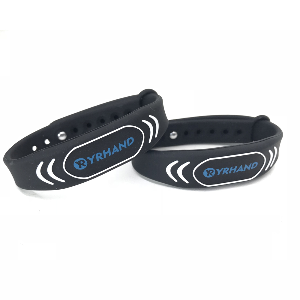 Black Smart Wristbands Bracelets For Rfid Door Locks