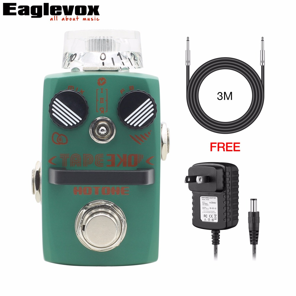 Hotone TAPE EKO Digital Delay Electric Guitar Effect Pedal Modeling Tape Delay with Free Power Adapter and 3m Cable database modeling and design