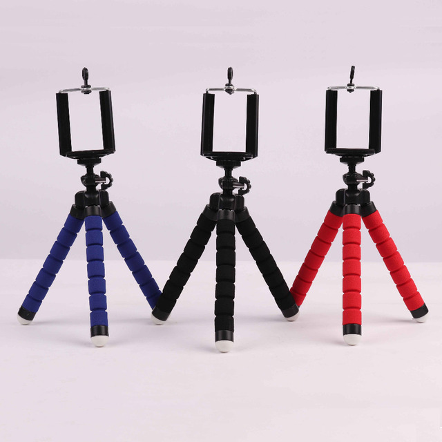 Lightweight Universal Mini Tripod Octopus Stand With Phone Clip Bracket Stand Selfie Stick For Smartphone Gopro Action Support