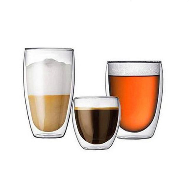 Double Wall Glass Coffee Mug Tea Beer Cup Handmade Cups And Mugs