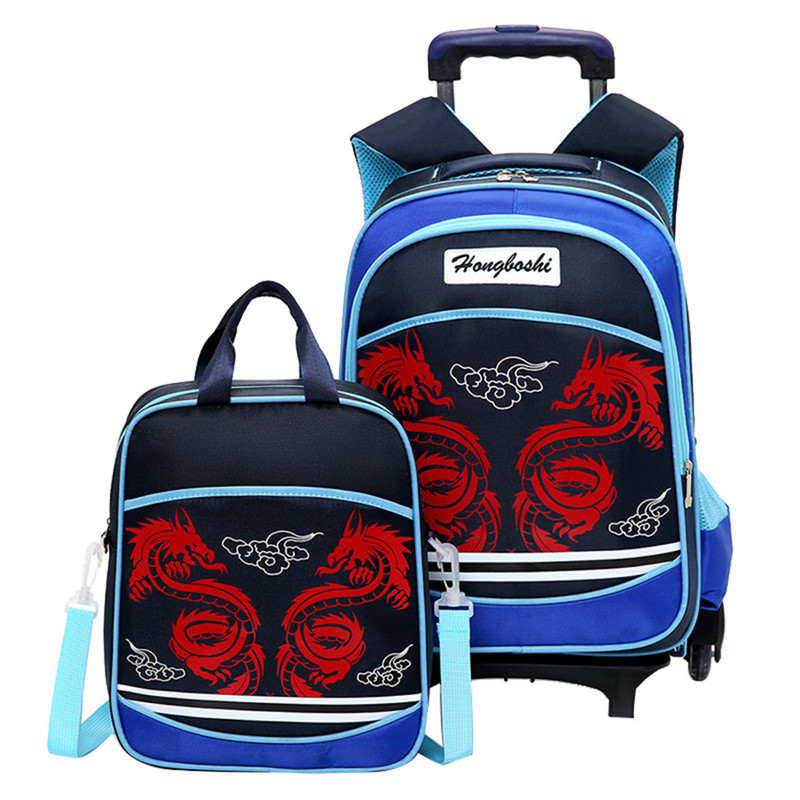 Children School Bags set For Girls Boys Kids Suitcase With Wheels Trolley Luggage Travel Trolley backpack Small Size