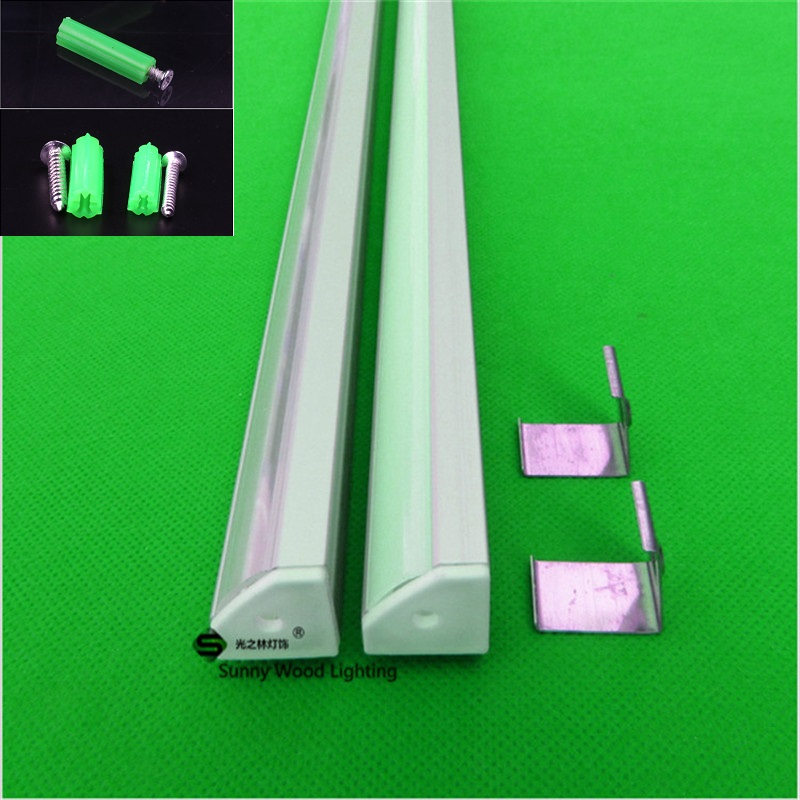 5-30pcs/lot 40inch led aluminium profile for led bar light, 45 degree led corner aluminum channel, 12mm strip aluminum housing free shipping super wide u shape aluminum anodized profile for led strips with cover and end caps for dual row led strip