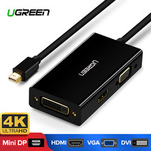 Ugreen Mini DisplayPort untuk HDMI Vga Dvi Adaptor Thunderbolt 2 HDMI Converter Mini Dp Kabel untuk Surface Pro 4 Mini displayPort(China)