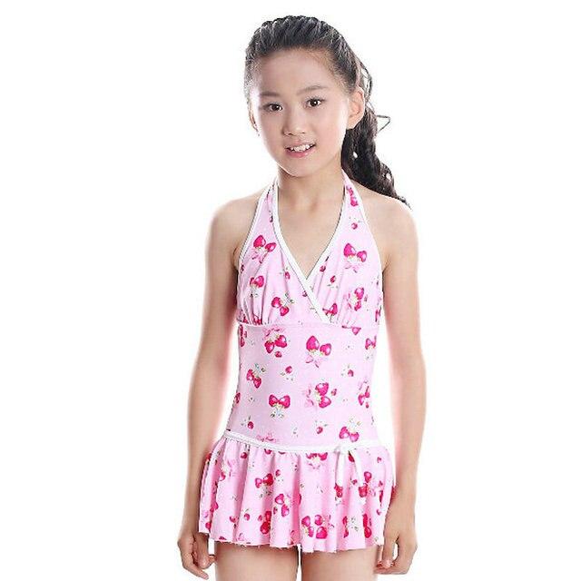 3206c7144aa60 ل 10-18 سنوات لطيف الزهور طباعة فتاة صغار الفتيات ملابس 2016 صيف جميل تنورة