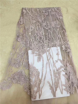 Excellent wedding/party African embroidery net lace textile for sewing French tulle lace fabric for lady dress PDN51(5yards/lot)