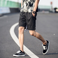 2017 Summer men's striped shorts male teenagers leisure male summer exercise beach homme cotton casual knee shorts