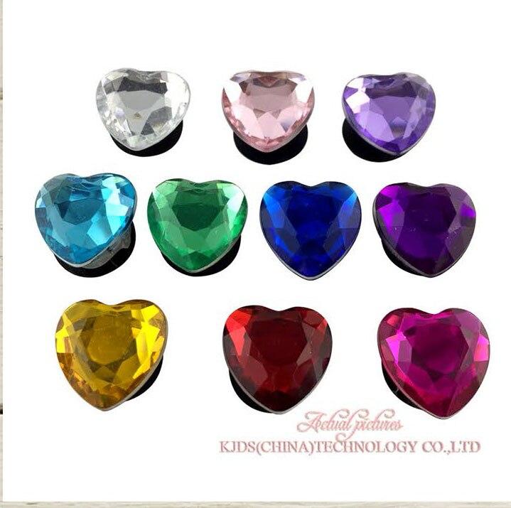 Single Sale 1pc Crystal3 PVC Shoe Charms,Shoe Buckles Accessories Fit Bands Bracelets Croc JIBZ,Kids Party X-mas Gift