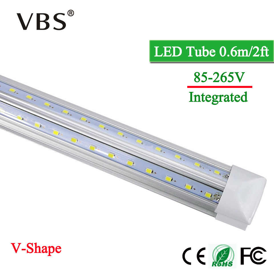 V-Shape LED Tube Lamp 20W T8 Tube 220V LED Bulbs 110V 2000lm Cold/Warm White SMD2835 96Leds Super Bright Led Fluorescent Lights
