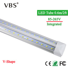 V-Shape LED Tube Lamp 20W T8 Tube 220V LED Bulbs 110V 2000lm Cold/Warm White SMD2835 96Leds Super Bright Led Fluorescent Lights цена 2017