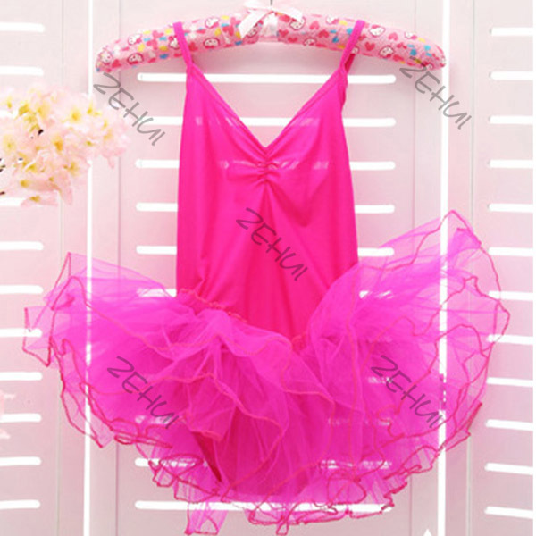EFINNY Kids Girls Party Ballet Costume Tutu Dance Skate Dress 3-12Y Leotard Dresses