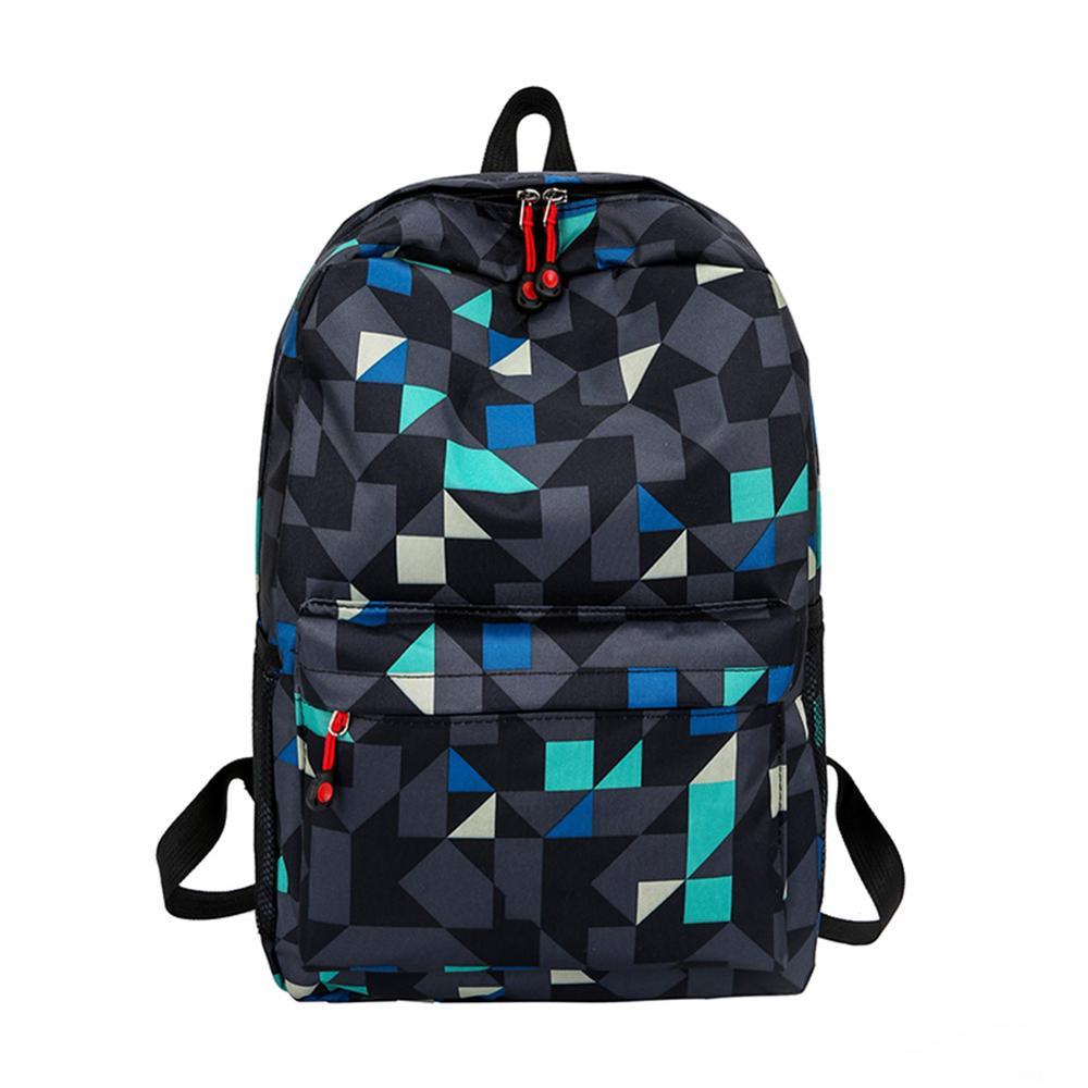 Waterproof Backpack Clutch-Shoulder-Bag Girls Women Color for Boys And Hit Geometric-Print