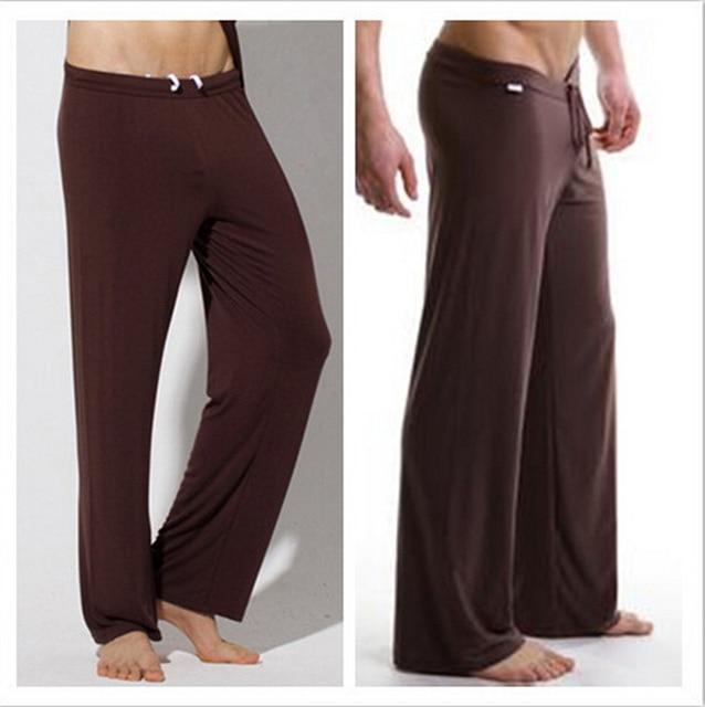 2017 Male silky loose casual pants breathable casual trousers drawstring pants Men lounge pants pajama pants