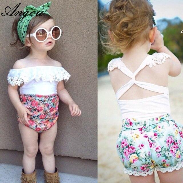0e1029e7a Angou 2016 summer infant baby girl lace tops sweet backless t shirts ...