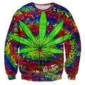 Alisister harajuku homens/mulheres hoodies pullovers impressão folha de plantas daninhas flor moletons casual mens gráfico 3d moletom com capuz longas shirts tops