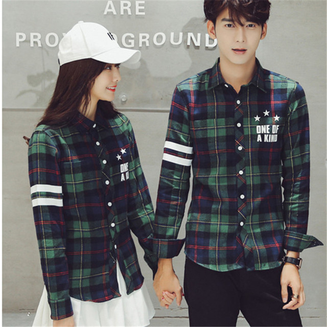 2017 Casual Korean Mens Fashion Flannel Shirt Special Design