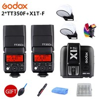 2x Godox TT350F 2,4 г HSS ttl GN36 камера Вспышка Speedlite + X1T F триггер передатчик Комплект для Fuji X Pro2/X T20/X T1/X T2 камера s