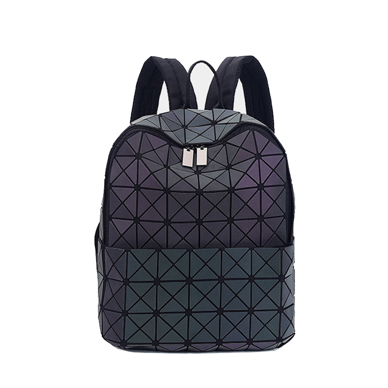 New Bao Bag Backpacks Women Geometric Patchwork Diamond Backpack For Teenage Drawstring Bag Mochila School Bag For Girl 2018