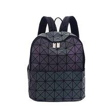 Nueva Bao Bao Mochilas Mujeres Geométrica Patchwork Diamante BaoBao Bolso de Lazo mochila Chica bolsa de La Escuela Mochila Para Adolescentes 2016