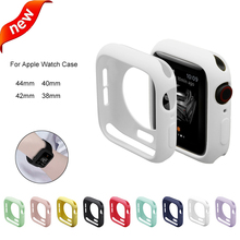 Soft Silicon TPU Cover For Apple Watch Band 44mm 40mm 42mm 38mm Colorful Candy Color Protector Case iwatch 4 3 2 1 Accessory
