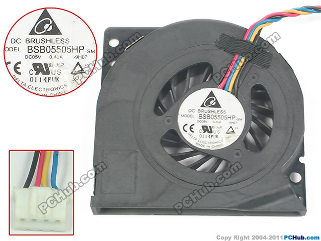 купить  Free Shipping For Delta BSB05505HP, -9H07 DC 5V 0.4A 4-wire 4-pin Server Blower fan  онлайн