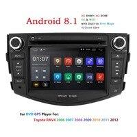 Ips Android 8,1 автомобильный dvd плеер с двумя цифровыми входами для Toyota RAV4 Rav 4 2007 2008 2009 2010 2011 магнитола gps Wi Fi rds dab tpms 4G