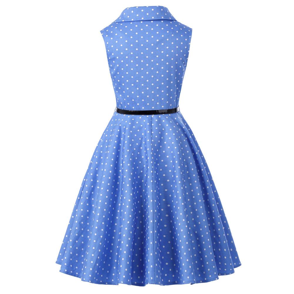 Grace Karin Flower Girl Dresses for Weddings 2017 Sleeveless Polka Dots Printed Vintage Pin Up Style Children's Clothing 20